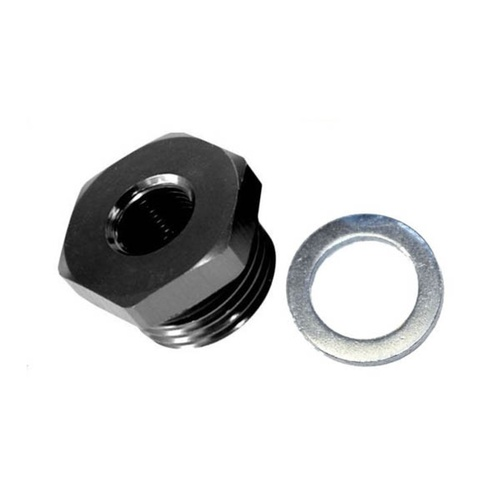 METRIC PLUG WITH 1/8TH PORT [Color: BLACK] [size: M12x1.5]